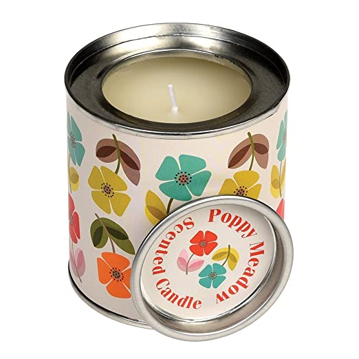 dotcomgiftshop MUSK SCENTED CANDLE IN A WORLD MAP TIN