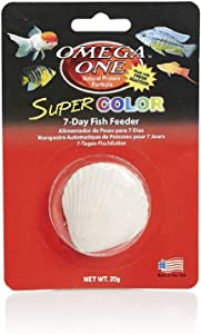 Omega (3 Pack) One Super Color 7 Day Fish Feeder, 20g Each