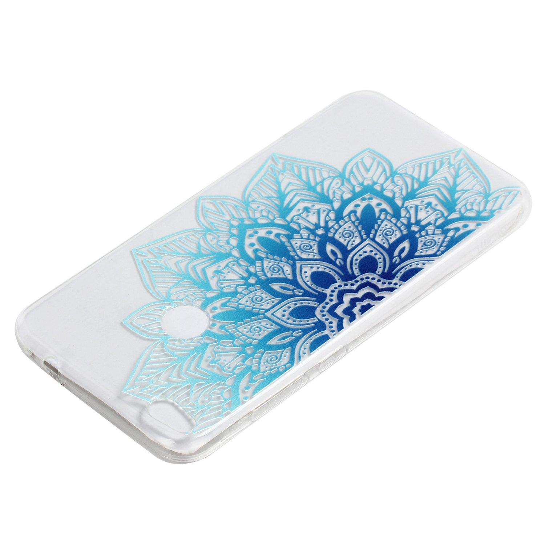 ZXK CO Transparent Halb Blauen Mandala Bl/üten Muster Transparent Ultra D/ünne TPU Silikon Handy H/ülle Etui Kratzfeste Sto/ßfeste Case Cover f/ür Huawei Y5 II Y5 II H/ülle Blumen