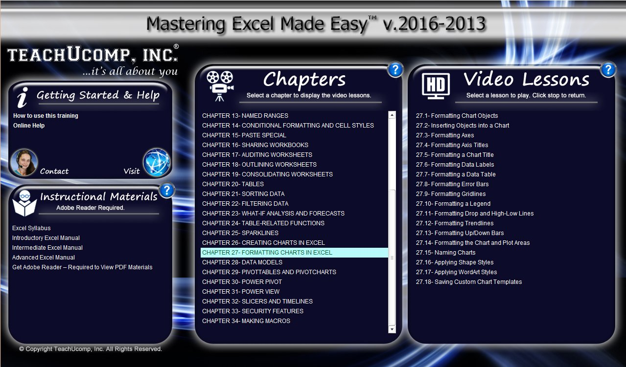 Amazon.com: Learn Microsoft Excel 2016 Made Easy Video Training Tutorial  DVD-ROM Course: Even Dummies Can Learn Excel With This Course for Everyone