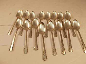 Del Mar Vintage 1881 Rogers Oneida cubiertos de plata placa 16 cucharillas: Amazon.es: Hogar