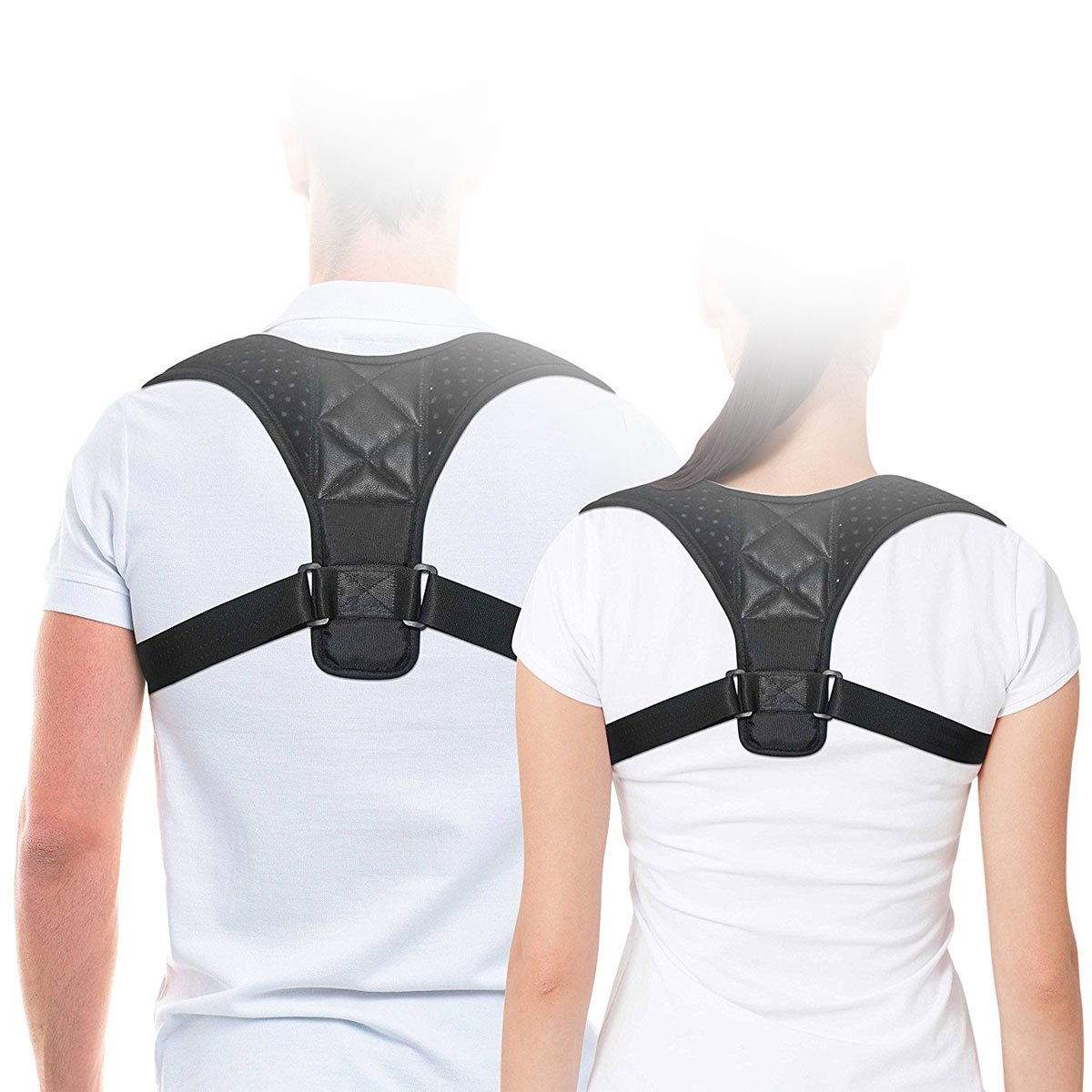 DRASE Adjustable Back Brace For Women & Men,Straighten Shoulder,Posture Support