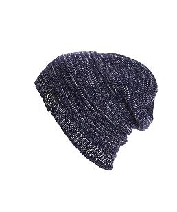 Berretti in Maglia Unisex, Ularma Uomo Donna Unisex Knit rigonfio Beanie inverno Cappello del Pattino Slouchy (Marina Militare)