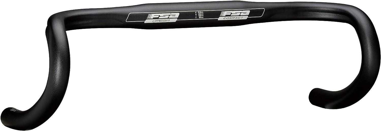 FSA Manillar Bicicleta de Carretera Omega Compact Negro Ancho 38 cm 2013