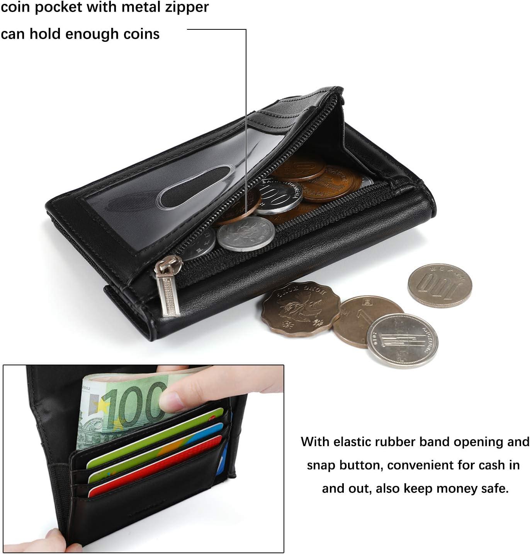 Compartiment /à Billets,Pratique Noir Vemingo Portefeuille Homme Mince RFID avec Poche /à Monnaie Zipp/é,Portefeuille pour Homme Minimaliste Porte Carte de Cr/édit Porte Carte dIdentit/é