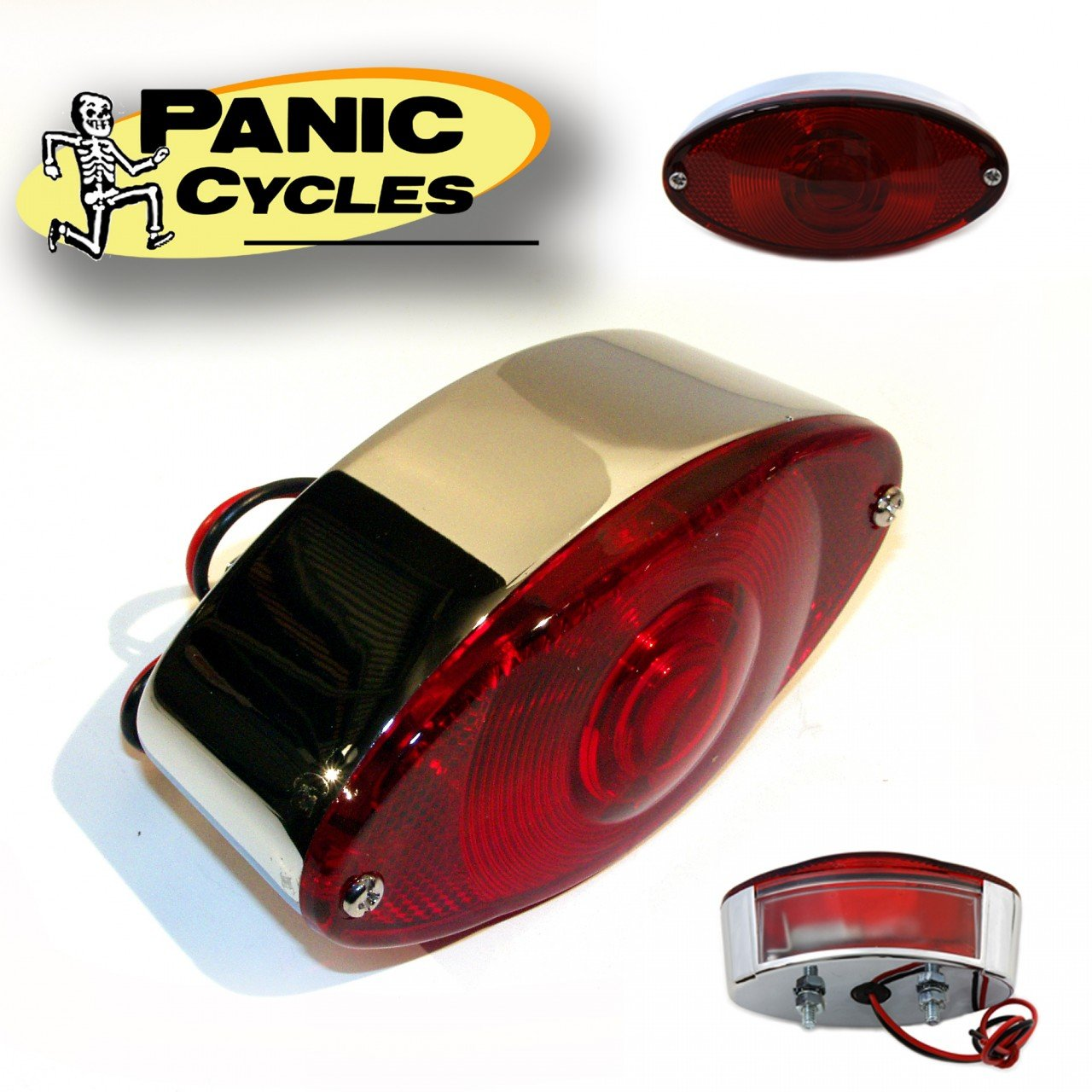 V-Twin 33-0306 - Chrome Tail Lamp Cateye Style