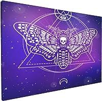 tableau tête de mort papillon 2