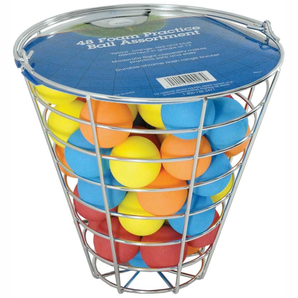 Intech Range Bucket with 48 Multi-Color Foam Golf Balls by Intech