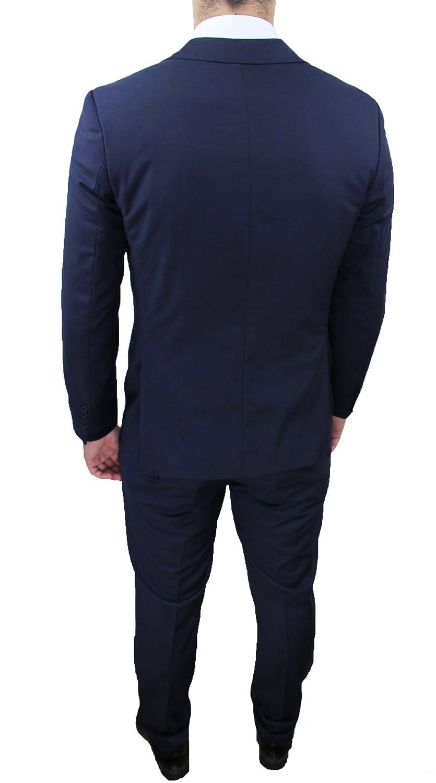 4894d8ce8ff9 Abito completo uomo sartoriale calibrato blu taglie forti comode conformato  casual elegante cerimonia  Amazon.it  Abbigliamento
