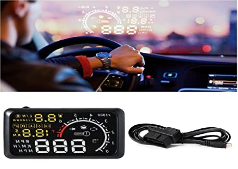 5.5 coche HUD Proyector 3d Head-Up Display velocidad Combustible ...