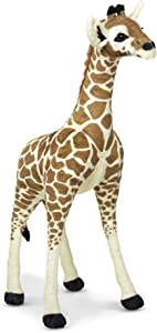 Melissa & Doug Lifelike Plush Standing Baby Giraffe Stuffed Animal – 3 Feet Tall