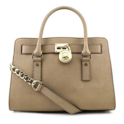 b4e63bf69f13 Amazon.com  MICHAEL Michael Kors Hamilton East West Satchel in Dark Dune  Michael  Kors  Shoes