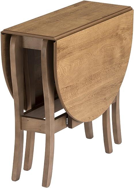 Mood Heatproof Oval Gateleg Drop Leaf Table In Warm Oak Solid Wood Frame Tufftop Heat Resistant