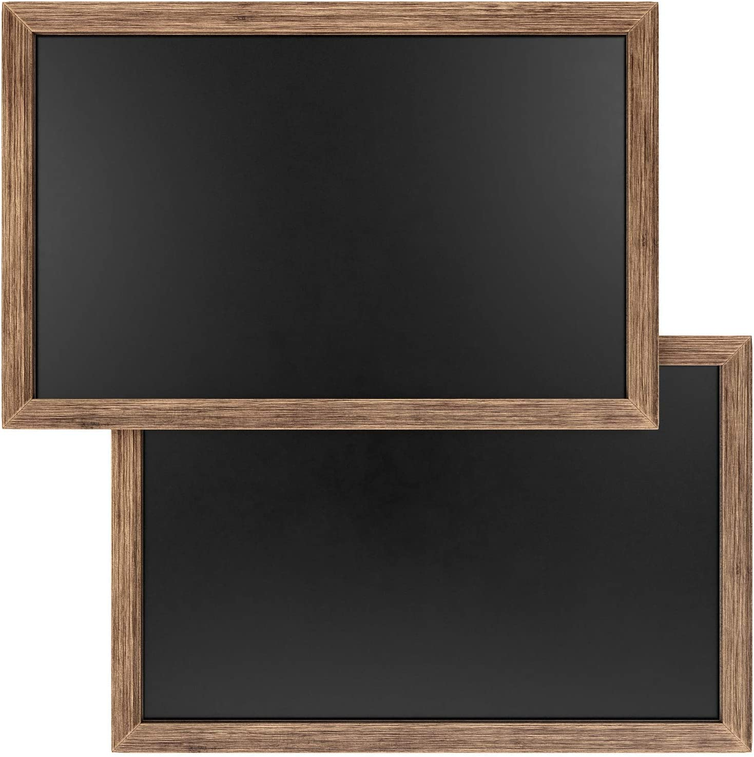 Arteza Small Magnetic Chalkboard for Walls, 11x17 Inches, 2-Pack, Easy to Mount, Rustic Decorative Black Chalk Board for Kitchens, Cafes, Stores, Weddings & Special Events : Office Products