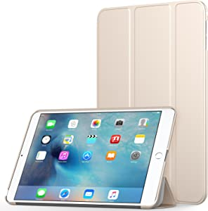 MoKo Case Fit iPad Mini 4 - Slim Lightweight Smart Shell Stand Cover Case with Auto Wake/Sleep Fit iPad Mini 4 (2015 Edition) 7.9 inch iOS Tablet, Gold