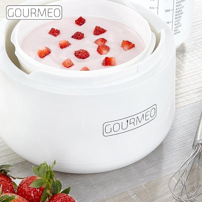 GOURMEO yogurtera de yogur natural premium, yogur de soja, quark ...