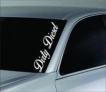 Dabbledown decals large dirty diesel car truck window windshield lettering decal sticker decals stickers jdm drift