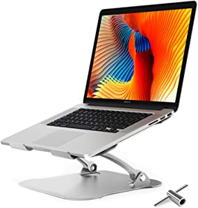 "Laptop Stand,Ergonomic Aluminum Computer Stand,Adjustable Laptop Riser Notebook Holder Stand for Desk Compatible with MacBook,MacBook Pro,Air Pro, Dell, More 10-17.3"" Laptops [with Detachable Tool]"