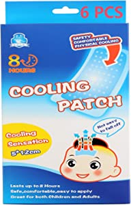 Cooling Patch, Fever headache Forehead Cooling Sticker Headache Patches Forehead Instant Cooling Relief Strip for Adult/Kids –pack of 6