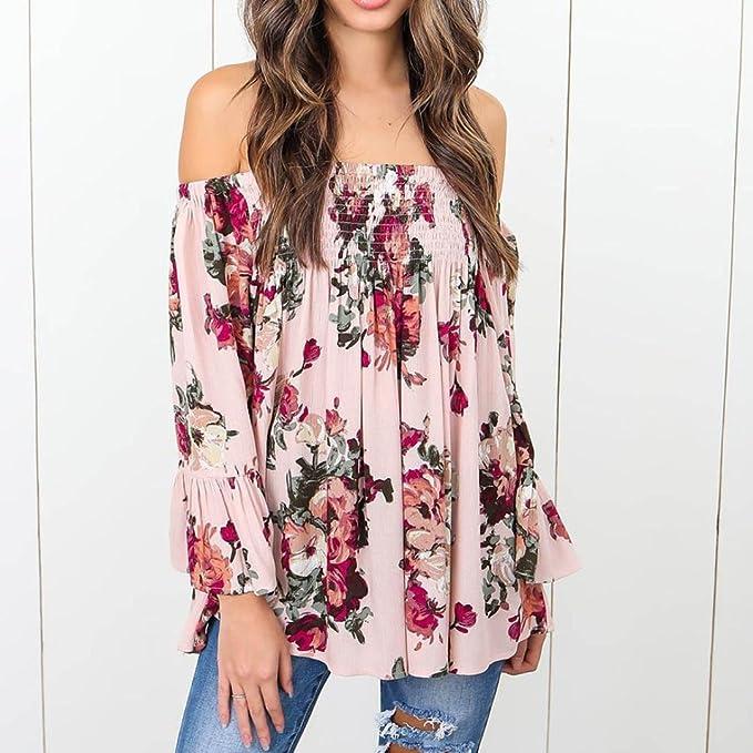 ... Ba Zha Hei Camisetas Mujer Verano Blusa Mujer Camisetas Mujer Fiesta Camisetas Sin Hombros Mujer Camisetas Mujer Tallas Grandes ropa: Amazon.es: Belleza