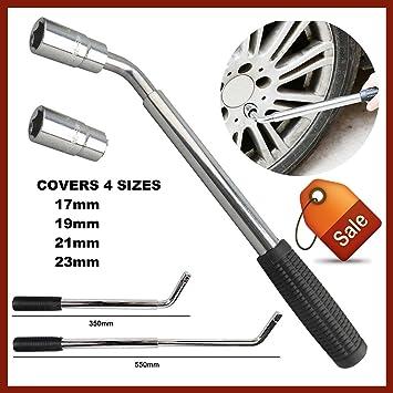 Llave de tuerca telescópica para ruedas de coche y furgoneta - Para tuercas de ruedas de 17, 19, 21 y 23 mm: Amazon.es: Coche y moto