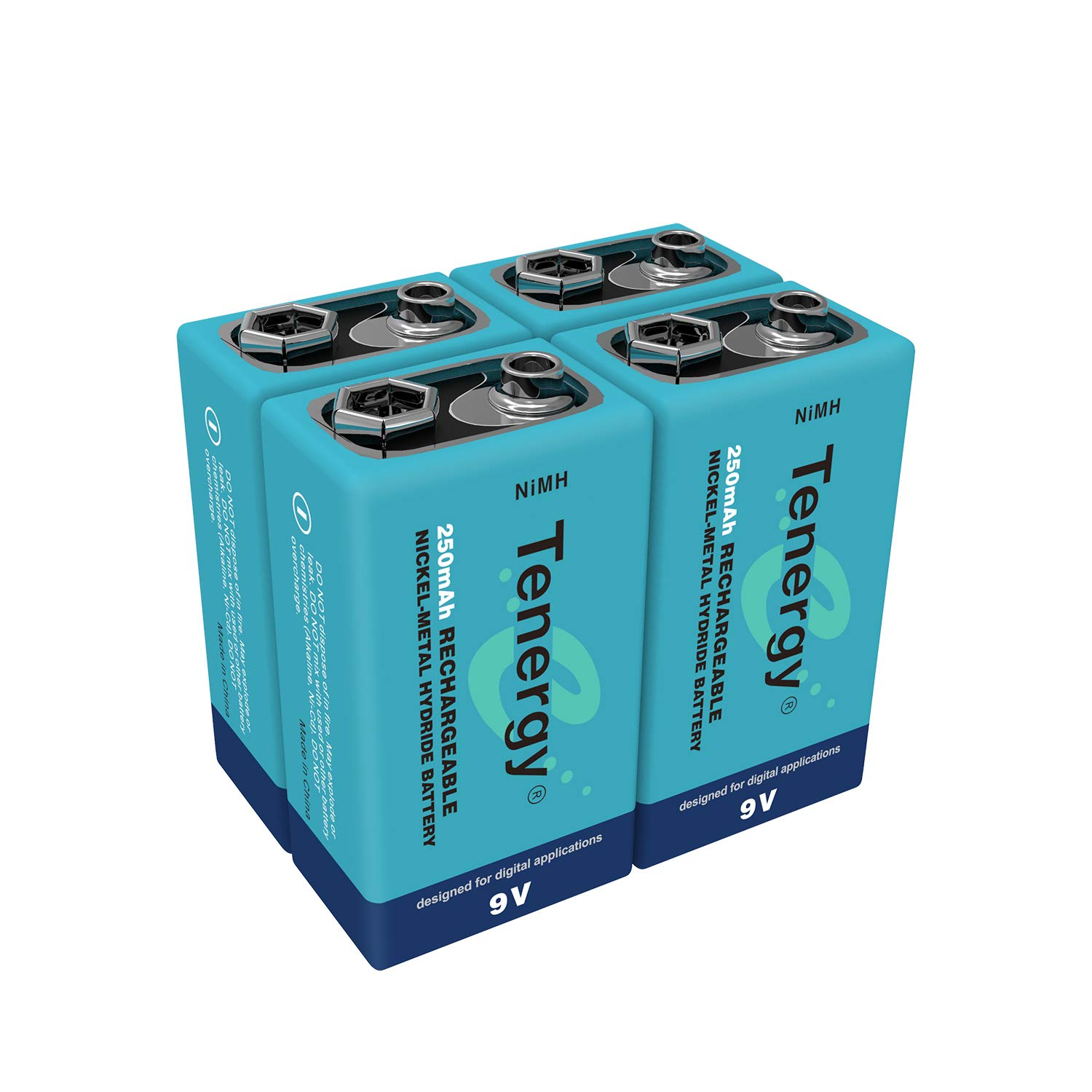 4 pieces of 9V 250mAh NiMH high capacity rechargeable Battery [Electronics] Tenergy 10420