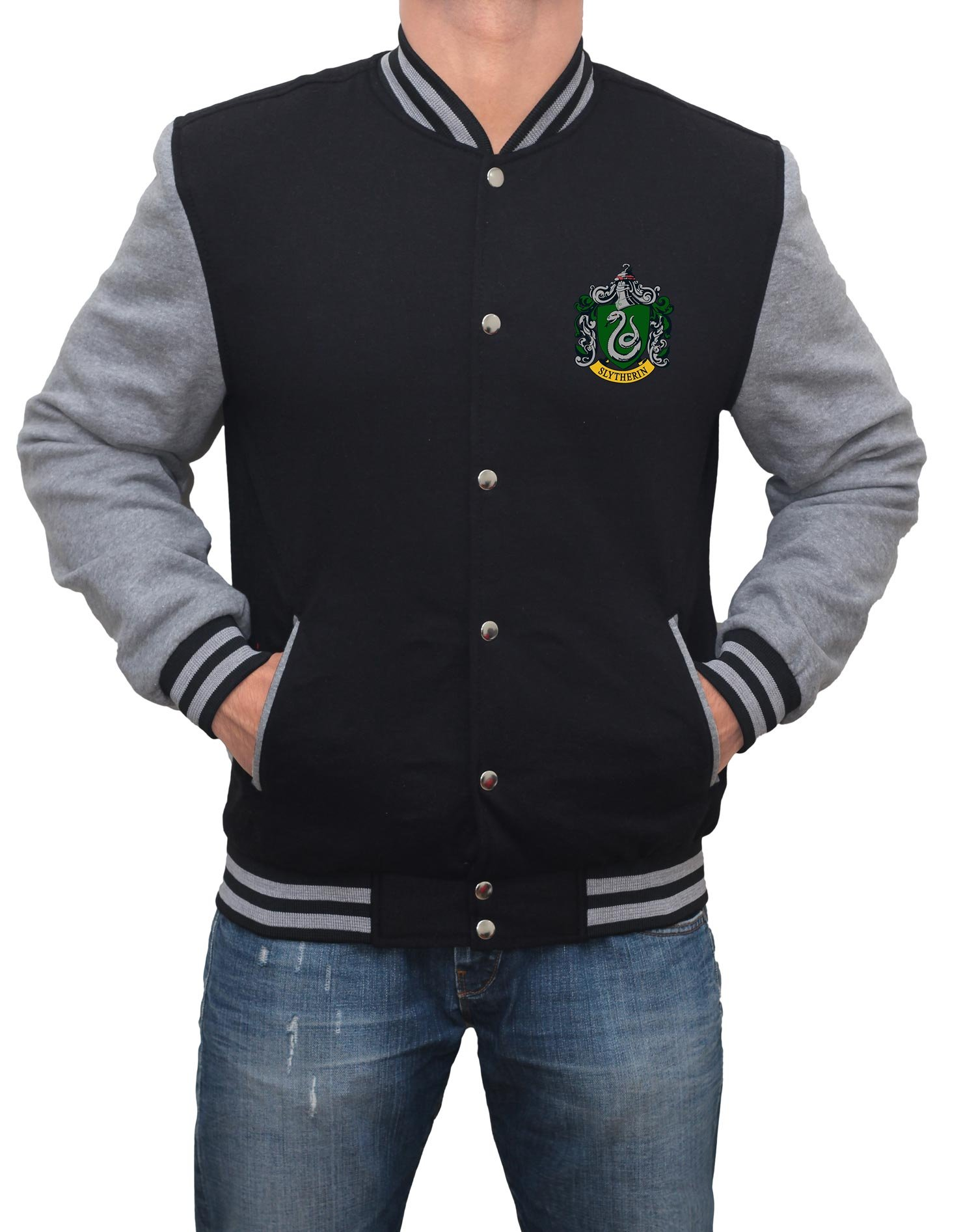 Decrum Slytherin Harry Potter Jacket - Mens Varsity Jacket | XL