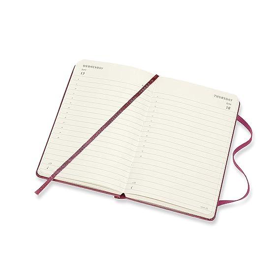 Moleskine - Agenda Diaria de 12 Meses 2020, Tapa Dura y Goma Elástica, Color Rosa Enérgico, Tamaño Pequeño 9 x 14 cm, 400 Páginas