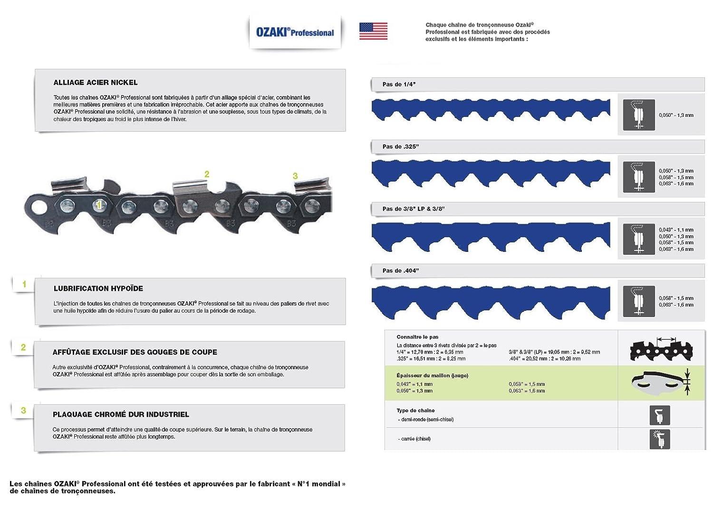 Cha/îne Pro 30cm pour tron/çonneuse 3//8-050-1,3mm-45 Entraineurs = 91-45E