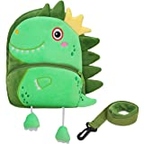 Toddler Backpack,Cute Plush Small Preschool Backpack with Leash Gift for Little Boys Girls Kids with Chest Strap