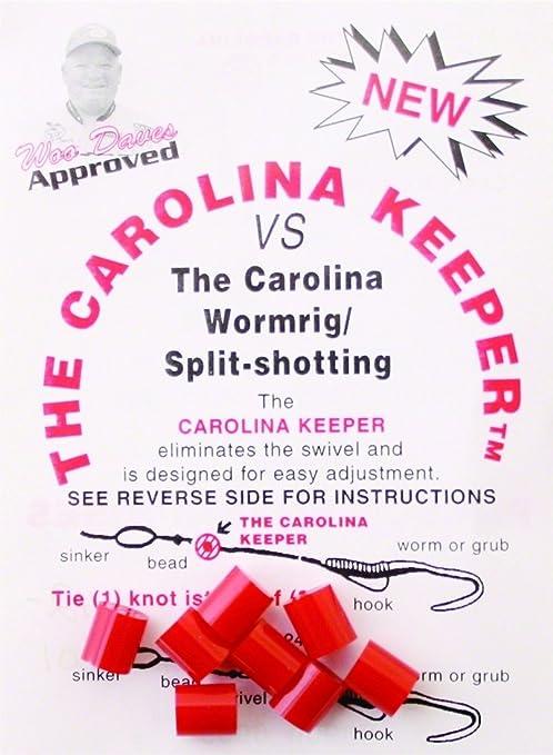Carolina Keeper CKCC Fishing Tackle 8-Pack Clear Finish