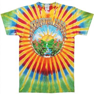 bce286c114a Amazon.com  Grateful Dead Men s Sunrise Tie Dye T-shirt Multi  Clothing