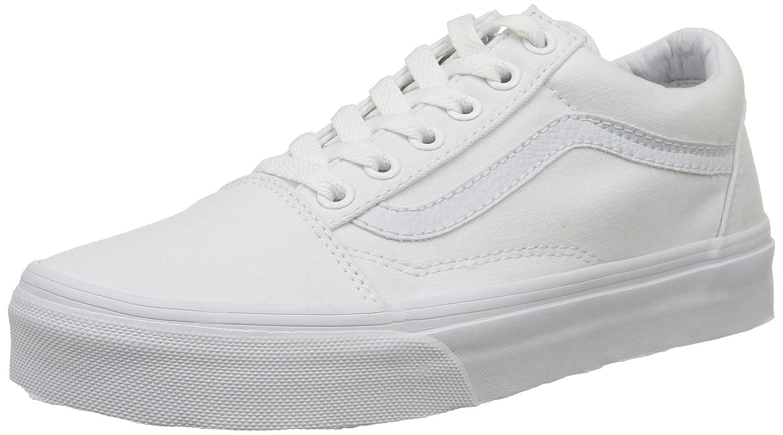 Vans Unisex-Erwachsene Old Skool Classic Canvas Sneakers  49 EU|Wei? (True White)