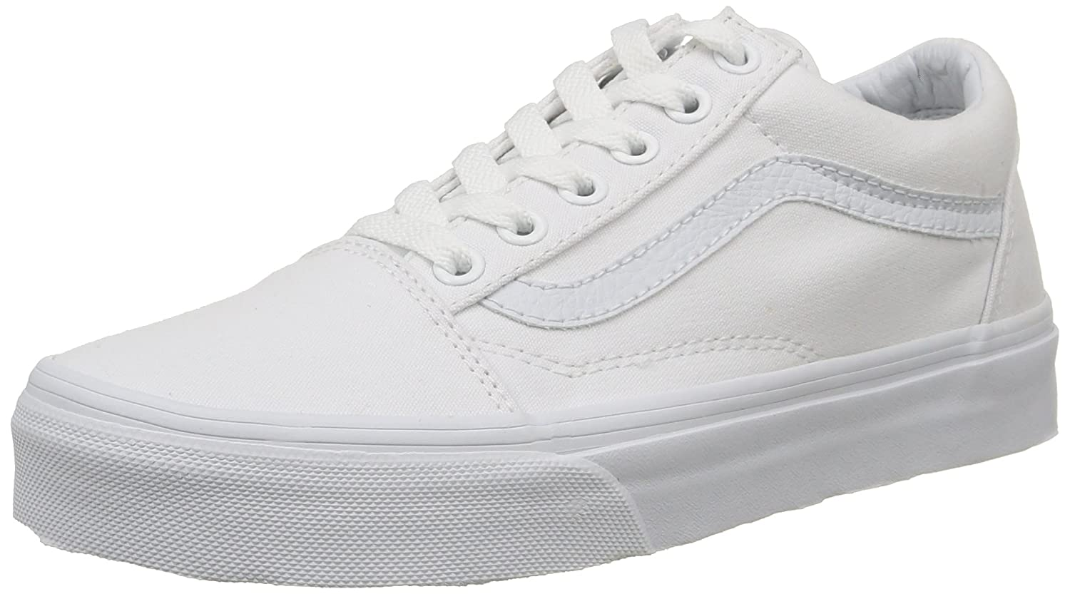 Amazon.com | Vans Unisex Old Skool True White Sneaker - 15 | Skateboarding