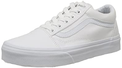 Amazoncom Vans Unisex Old Skool True White Sneaker 15