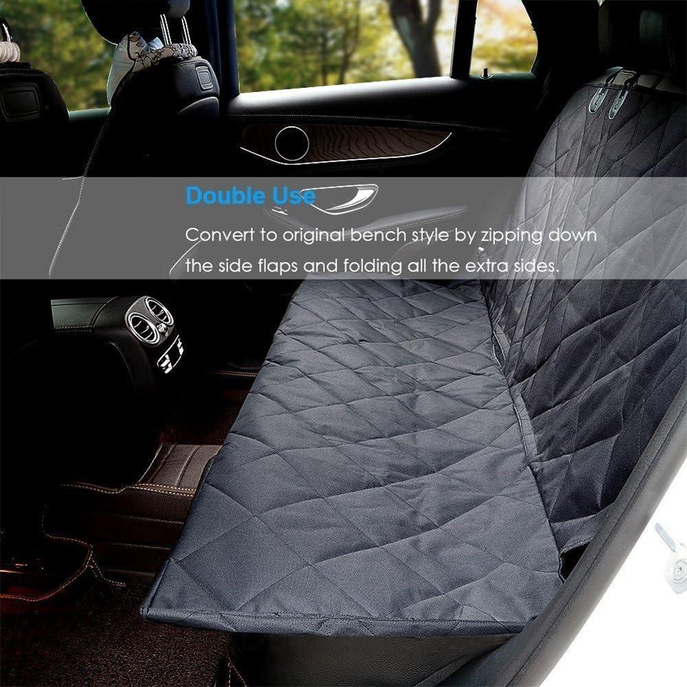 HCMAX Chien Housse de Si/ège Coffre Protection Voiture Animaux Hamac Convertible Couverture Imperm/éable Housses de Banquette Arri/ère pour Le Camion de SUV de Voiture