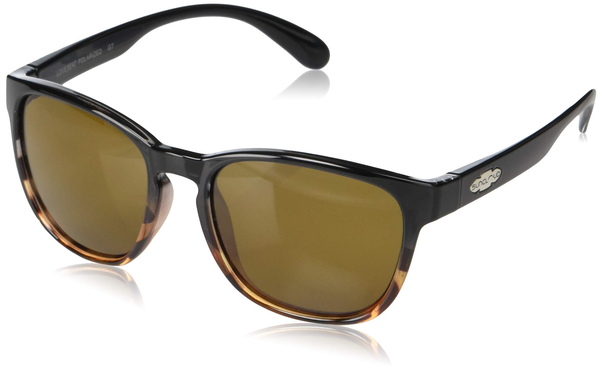 Suncloud Loveseat Sunglasses, Black Tortoise Fade, Brown