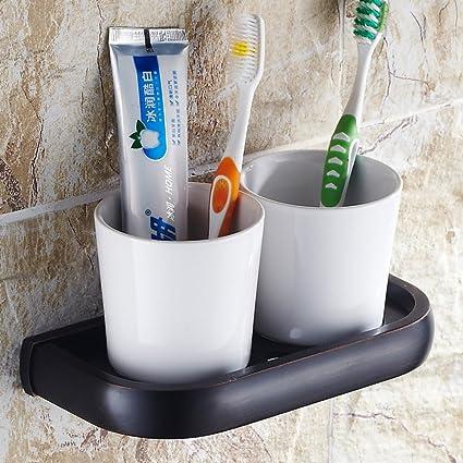 HCP accesorios de baño de bronce/Cepillo de dientes portavasos/sostenedor del vaso/