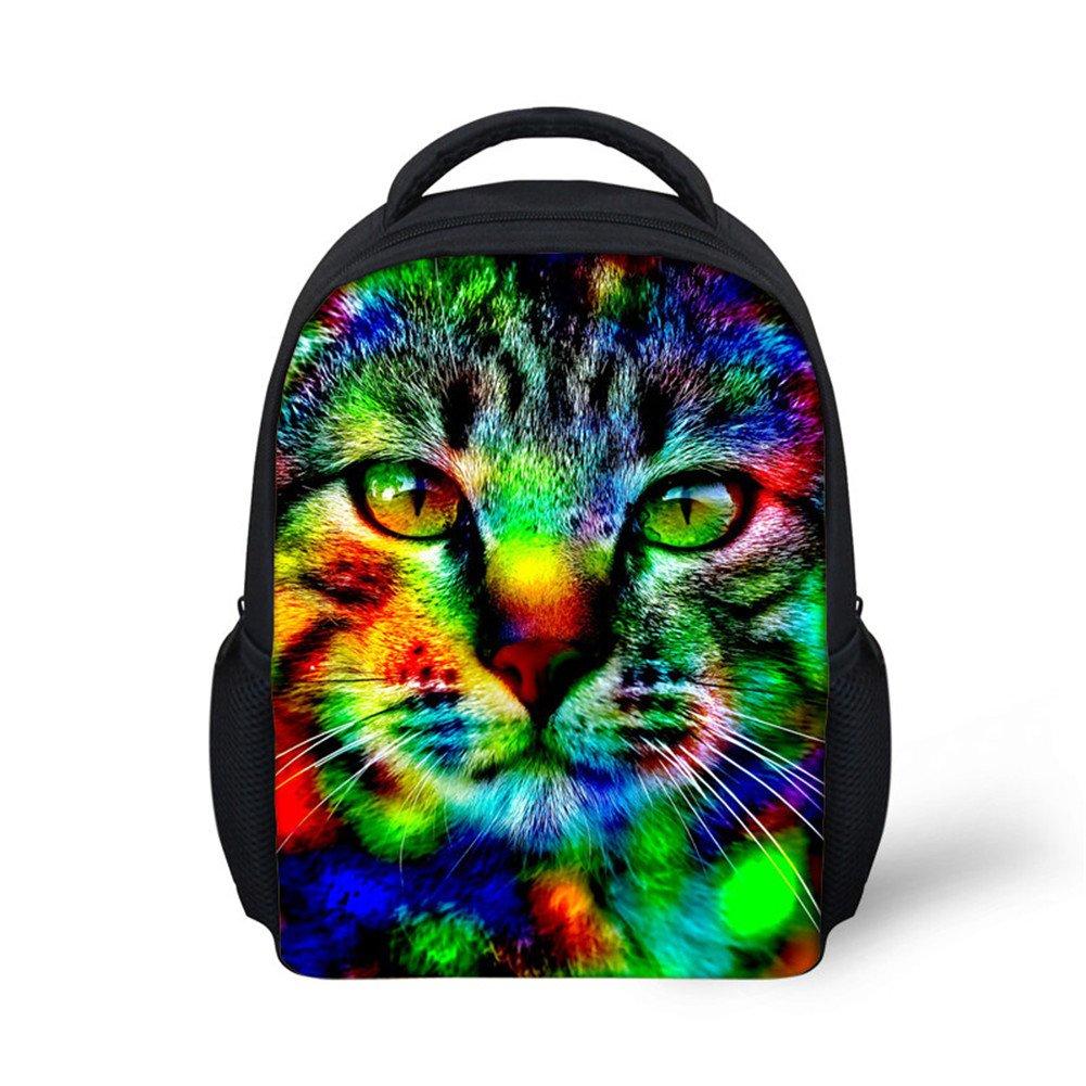 3947e0e5fcb Amazon.com  HUGS IDEA Cute Pet Cat Head Baby Girls School Shoulder Bag Mini  Travel Bagpack  Clothing