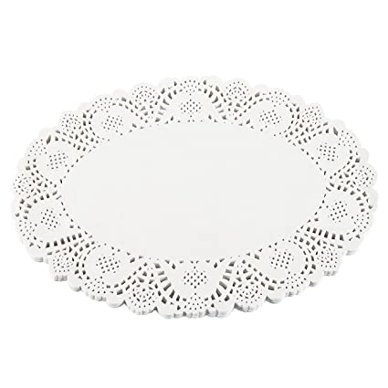 Paper Doilies U2013 100 Pack Oval Lace Placemats For Cakes, Desserts, Baked  Treat