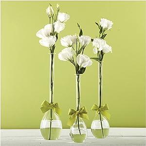 Two's Company Sleek & Chic Teardrop Vases Set of 3