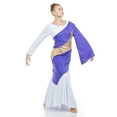d253df501ff4 Amazon.com: Danzcue Asymmetrical Praise Dance Pullover: Clothing