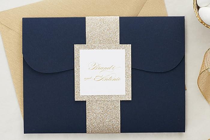 Fancy Wedding Invitations.Amazon Com Custom Elegant Wedding Invitations Set In Pocketfold