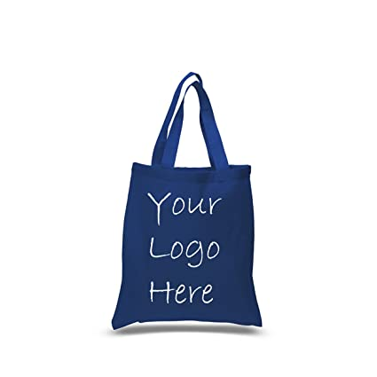 amazon com cotton canvas tote bags 100 pack with 1 color 1 side
