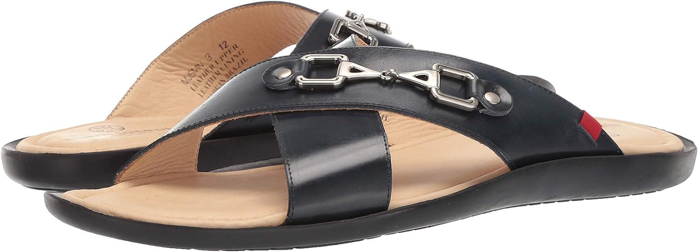 MARC JOSEPH NEW YORK Mens Leather Made in Brazil Park Ave Fashion Comfort Sandal
