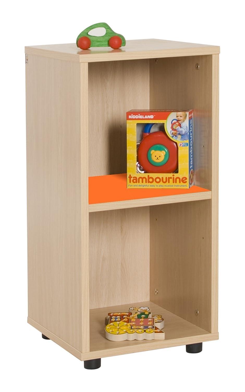 Mobeduc 600215HP19-Mobiletto basso/Mobiletto per bambini, in legno, colore: arancione/naturale legno, 40 x 36 x 76,5 cm Mobeduc_600215HP19