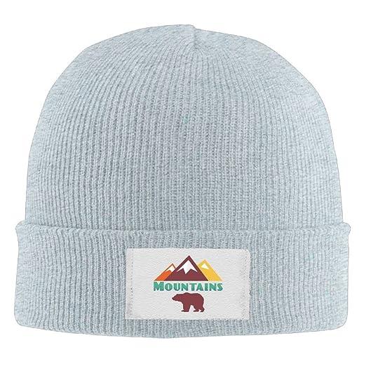 a413e8a1a71 Maurmb Adult Hats Mountain Bear Men Women Wool Cap Funny Beanies Knitted  Caps Warm Winter Hats