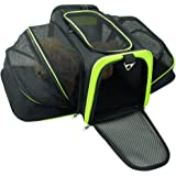 Jespet Expandable Airline Approved Foldable Pet Travel Soft-Sided Carrier (Two Extension) w/ Fleece Bed