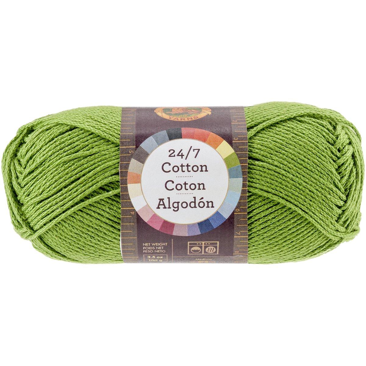 Aqua Lion Brand Yarn Company Fil de Coton 100/% Coton