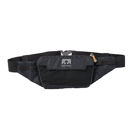 a77f6a25fd Nathan NS4912 Marathon Running Belt, Lightweight Training Pack with Stretch  Pocket, Black, One
